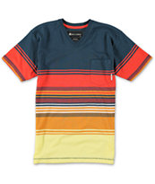 Billabong Boys Spinner Navy Stripe Pocket Tee Shirt