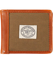 Obey Detour Olive & Brown Bi-Fold Wallet