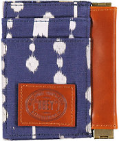 Obey Yuma Navy & Brown ID Wallet