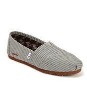 Toms Classic Grey Movember Stripe Wool Women's Slip On Shoe