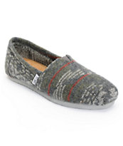 Toms Classics Grey Jacquard Women's Slip On Shoe