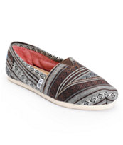 Toms Classics Black Nepal Weave Women's Slip On Shoe