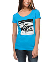 Diamond Supply Girls Brilliant Glass Blue Tee Shirt