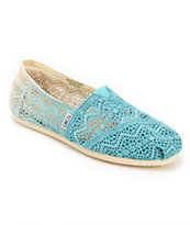 Toms Classics Baltic Dip Dyed Crochet Slip On Shoe