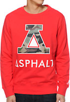 Asphalt Yacht Club Delta Force Red Crew Neck Sweatshirt
