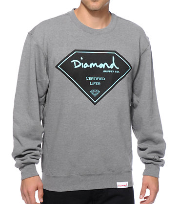 Diamond Supply Co Certified Lifer Crew Neck Sweatshirt