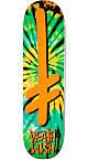 "Deathwish Gang Logo Orange Tie Dye 8.25""  Skateboard Deck"
