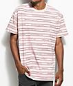 10 Deep Garment Supply Stripe camiseta rosa