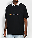 10 Deep No Bad Days Black Polo Shirt