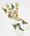 40s & Shorties Credit Card All-Over White Crew Socks