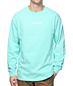 40s & Shorties Text Logo Celadon Long Sleeve T-Shirt