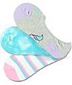 A-Lab 3 Pack Unicorn Tie Dye No Show Socks