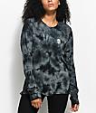 A-Lab Aby Alien Head Grey & Black Tie Dye Long Sleeve Shirt