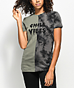 A-Lab Alesa Chill Vibes Tie Dye Split Seam T-Shirt