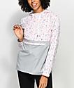A-Lab Alina Alien Pink & Grey Pullover Windbreaker