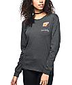 A-Lab Amily Homeslice Charcoal Long Sleeve T-Shirt