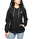 A-Lab Bobbi Yin Yang Black Canvas Hooded Coaches Jacket