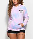 A-Lab Brealynna No Bad Days Pastel Tie Dye Hoodie
