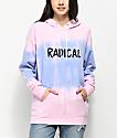 A-Lab Dots Radical Pink Dip Dye Hoodie