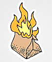 A-Lab Flaming Poo Bag Sticker