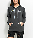 A-Lab Saleh Double Unicorn Charcoal Hoodie