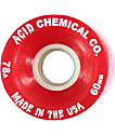 Acid Chemical Co Classic Funner 60mm 78a Red Longboard Wheels