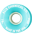 Acid Chemical Co Classic Funner 60mm 78a Teal Longboard Wheels