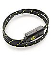Adapt Technology Double Wrap Essential Black & Gold Bracelet & Charging Cable
