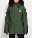 Airblaster Stay Wild Parka Duffle Green 10K Snowboard Jacket