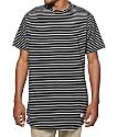 Akomplice Striped Moan Elongated T-Shirt