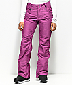 Aperture Crystal Stretch Wine 10K Snowboard Pants