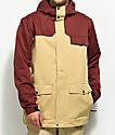 Aperture Wildlife Khaki & Maroon 10K Snowboard Jacket
