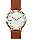 Arvo Time Sawyer White, Gold & Brown Watch