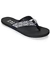 Billabong Baja Black & White Woven Sandals