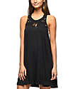 Billabong Easy Show Black Macrame Dress