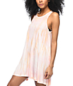 Billabong Spirit Ride Pink Tie Dye Dress