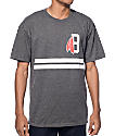 Black Scale Classic B Feather Logo Heather Charcoal T-Shirt