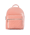 Blush Pink Velvet Mini Backpack