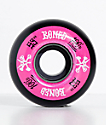 Bones 100 Ringers 53mm Pink & Black Skateboard Wheels