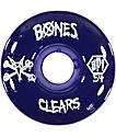 Bones SPF Clear Purple 54mm Skateboard Wheels