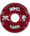 Bones SPF Clear Red 54mm Skateboard Wheels