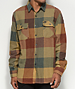 Brixton Bowery Rust & Gold Flannel Shirt