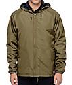 Brixton Claxton Olive Hooded Windbreaker Jacket