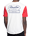 Brixton Dale Red & White Two Tone T-Shirt
