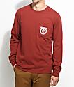 Brixton Native Burgundy Long Sleeve T-Shirt