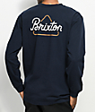 Brixton Newbury Navy Long Sleeve T-Shirt