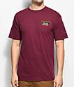 Brixton Normandie Burgundy T-Shirt