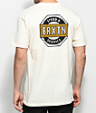 Brixton Octaine Off White T-Shirt