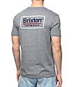 Brixton Palmer Heather Grey T-Shirt