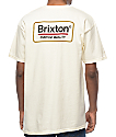 Brixton Palmer Off White T-Shirt